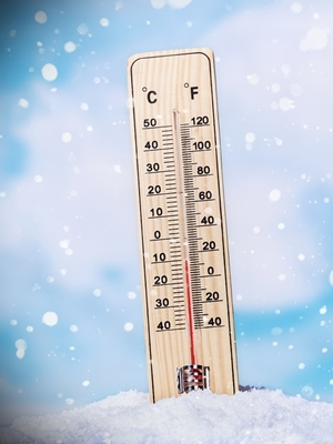 Freezing thermometer