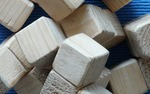 Butler loaned the museum a set of Froebel Gift Blocks that were used by Eliza Baker.