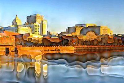 Medium peoria watercolor landscape