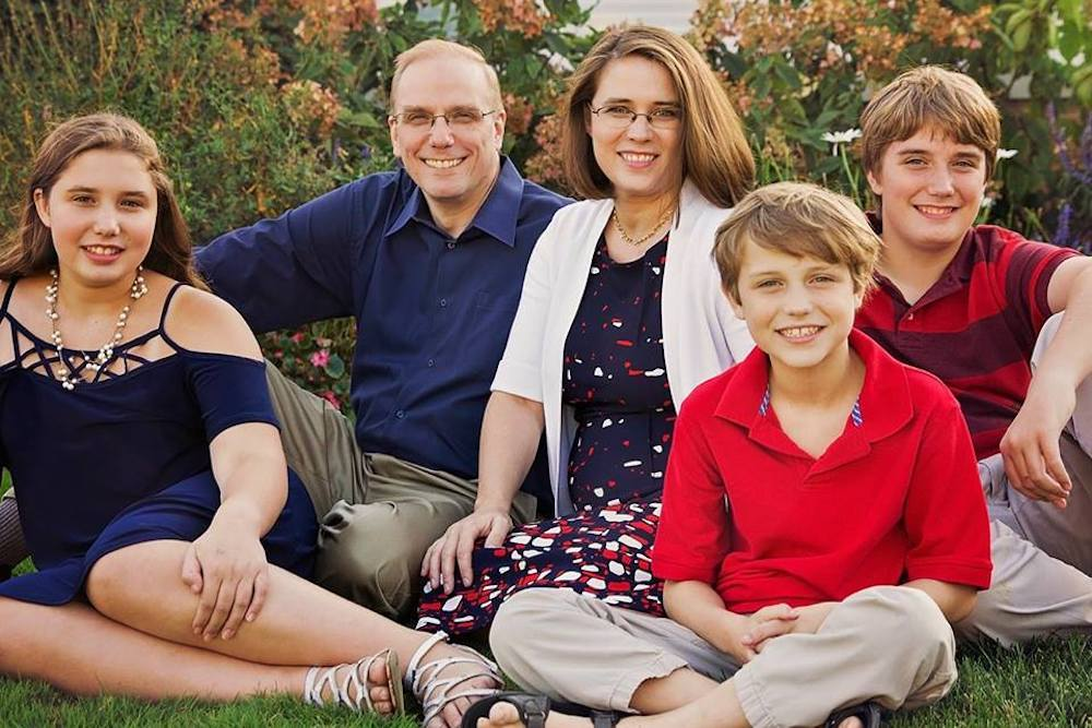 GOP House candidate Amanda Biela and her family