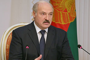 Belarus President Alexander Lukashenko told business executives this week that economic stability is the nation's top priority.