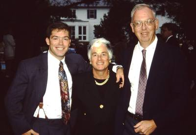 An undated picture of Craig Wilcox, left, pictured with his parents