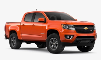 "The 2019 Colorado will be available in a shade of bright orange ""Crush"" as its exterior color."