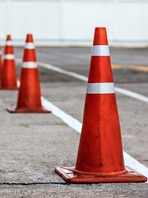 Large traffic cones