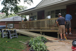 The addition of a ramp can be the difference between night and day for a wheelchair-bound homeowner.