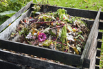 Many types of composting bins can be used, but they are easy to make with wire fencing, cement blocks, bricks or even scrap lumber.