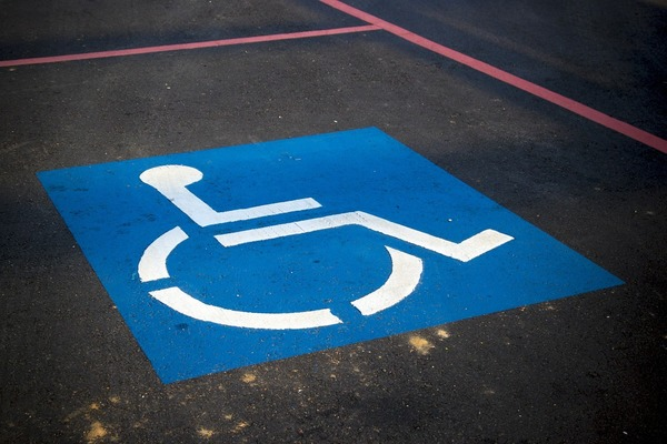 Large handicapsign