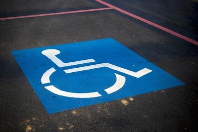 Medium handicapsign