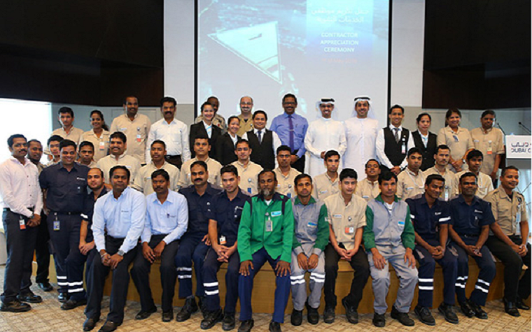 The Dubai Chamber of Commerce and Industry recognized more than 60 support staff members Sunday, International Workers' Day.