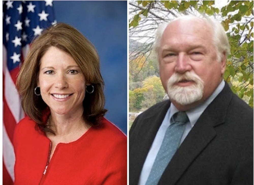 Cheri Bustos, left, and William Fawell
