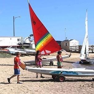 Medium hpark beach sailboat