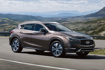 The 2017 Infiniti QX30 evokes an impression of athleticism.