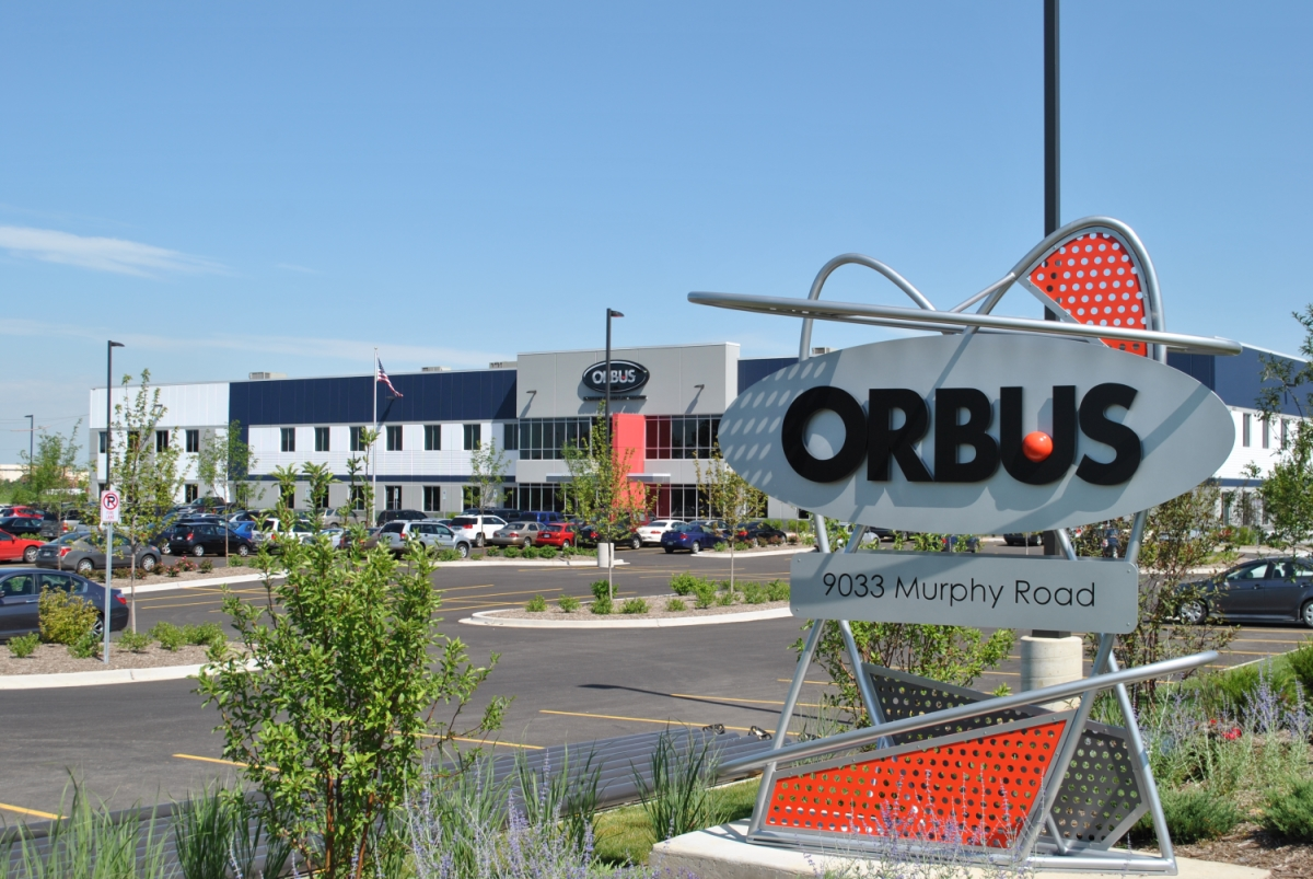 The Union Pointe Business Park construction project includes a 353,278-square-foot building built for Orbus Exhibit and Design.