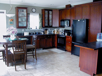 Black stainless-steel appliances are becoming a popular choice for upscale kitchens.