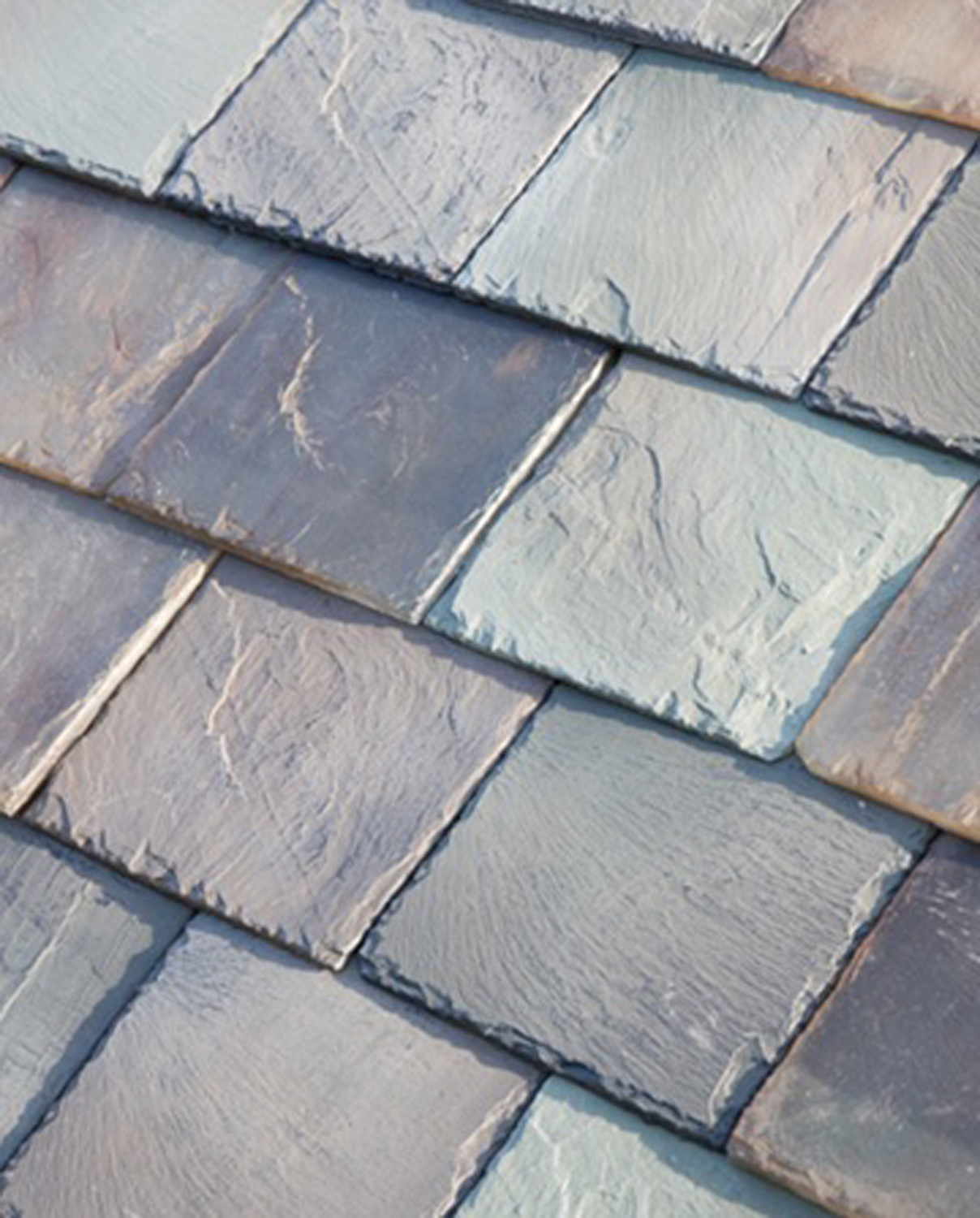 Solar panels are fabricated to mimic existing roof materials like tile and slate.