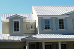 Metal roofs can deflect most of the sun's energy away from the home.