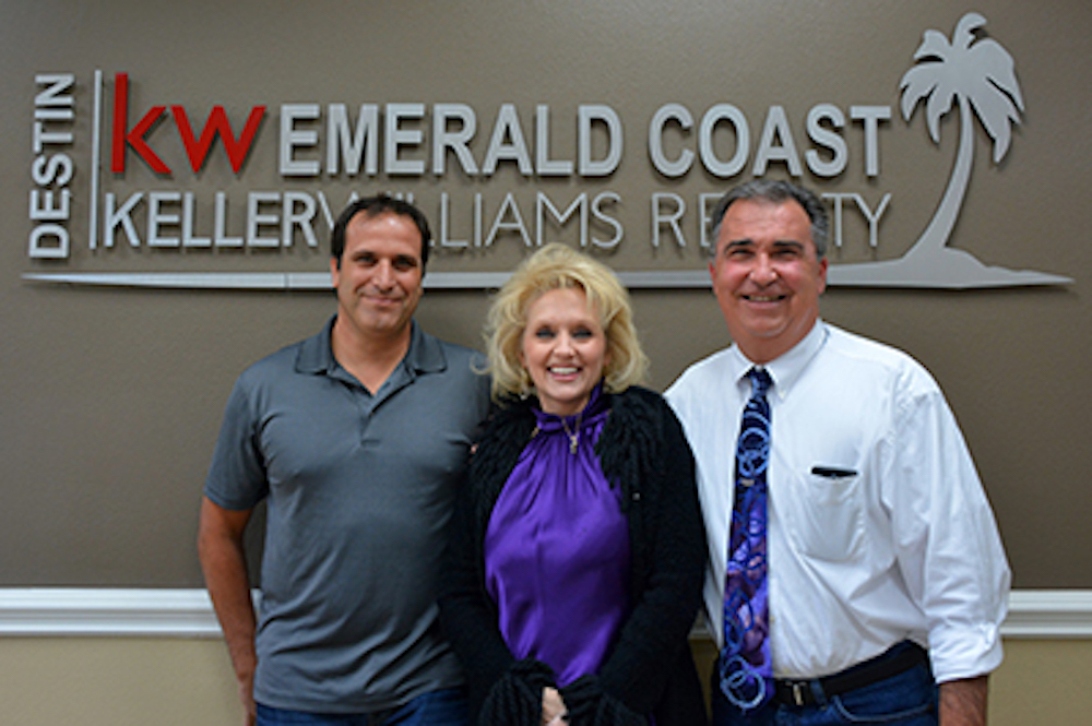 Craig Baranowski (left), Andrea Farrell and Al Mader.