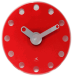 Accent Red Wall Clock by Infinity Instruments: $59.00