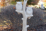 Owls have become a very popular subject for garden statuary.