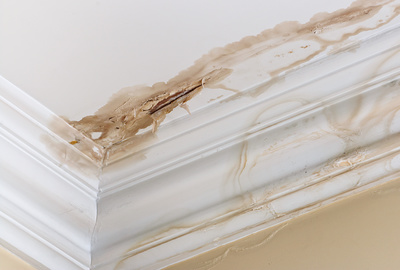 Roof damage and rain can lead to repairs on a home's interior drywall.