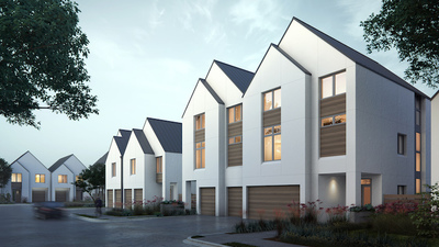 Fifty-five Scandinavian inspired townhomes now selling and under construction.