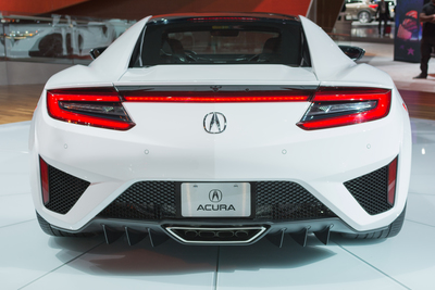 The NSX's exterior is handpainted for a personal touch.