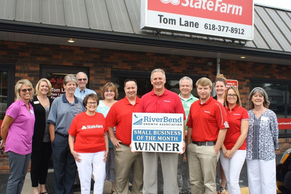 Tom Lane of Bethalto was honored by the RiverBend Growth Association as its Small Business of the Month.
