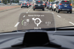 A Head-up Display gives drivers access to information without taking their eyes of the road.