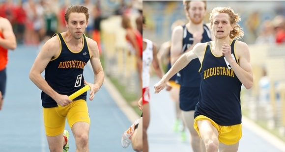 Augustana College junior Isaac Smith (left) and senior Dan Popek (right) were named to the CoSIDA Academic All-America team for men's track and field.