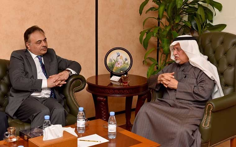 Ministry of Commerce Commercial Fraud Combat Department General DirectorOmar Al Sehebani and CSC National Committee on Trade Chairperson Sulaiman Al Ayeeri