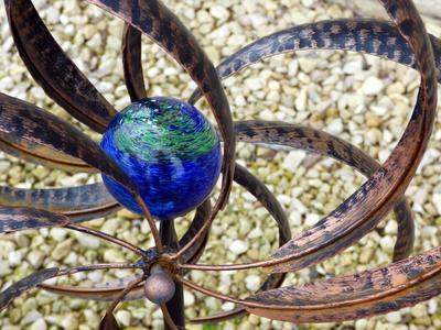 A yard sculpture