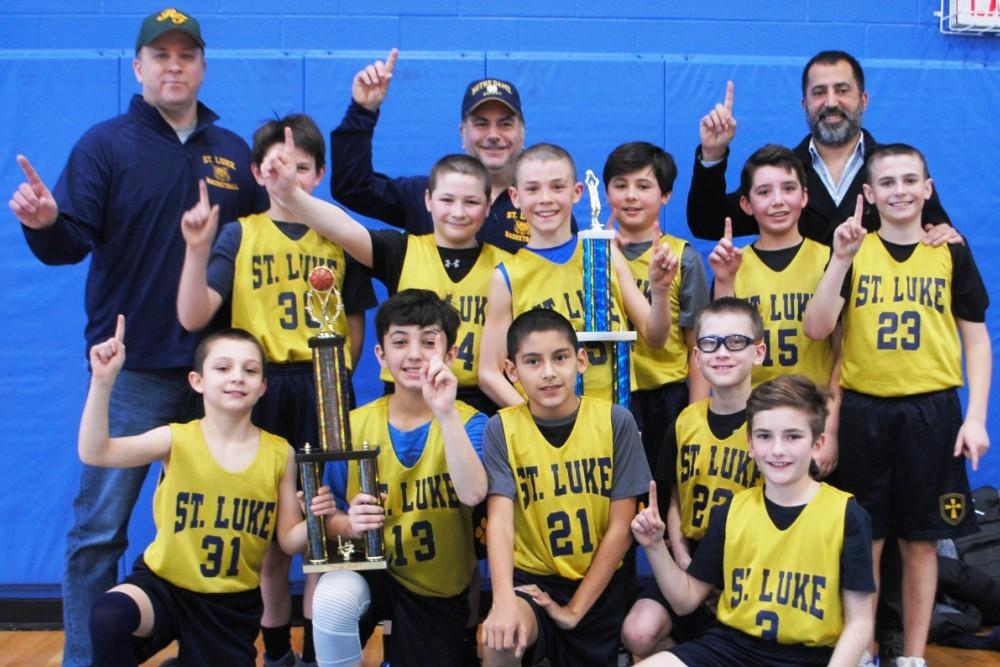 St. Luke Parish School boys basketball team