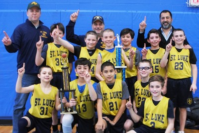 St. Luke Parish School boys basketball team