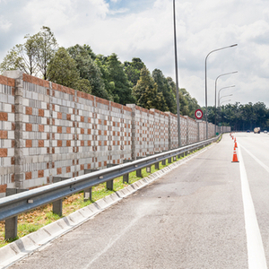 A highway noise wall