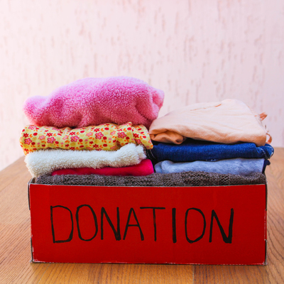 Donating clothes and other items helps keep a children's room organized and also teaches children about doing charitable works.