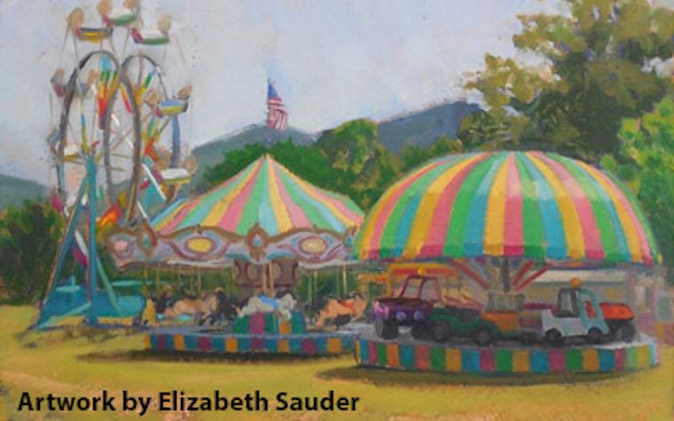 Elizabeth Sauder, of Rockbridge County, enjoys painting the outdoors.