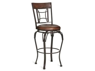 The Grenada Bar Stool's seat sits at 30 inches and the attached back provides support to those who don't like backless stools.