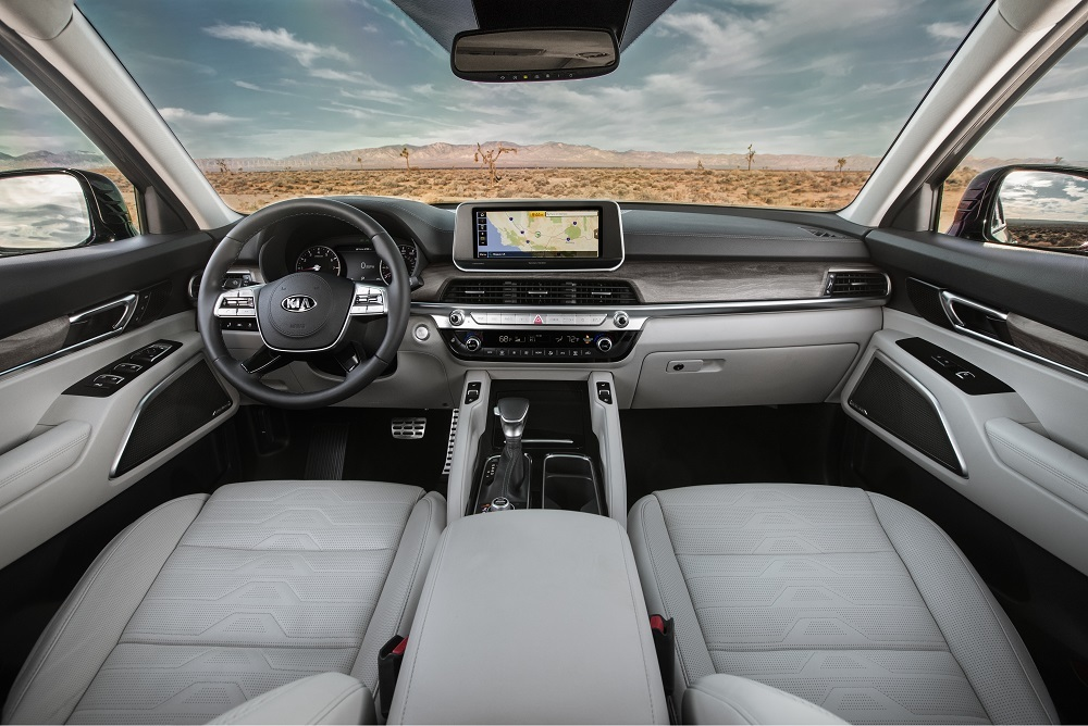 The interior of the Kia Telluride.