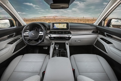 The interior of the Kia Telluride.