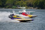 The Marble Falls Lakefest features boats reaching speeds of up to 260 mph on the water.