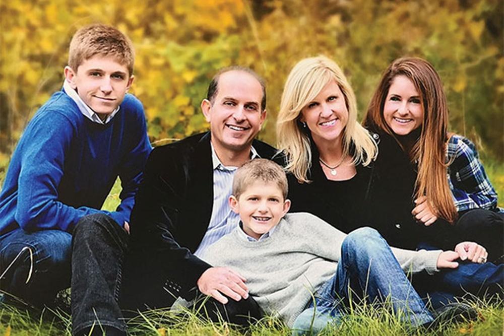 Tonia Khouri with her family