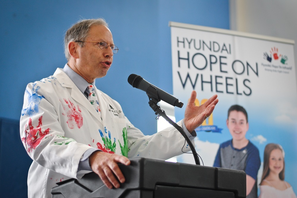 Dr. Donald Small heads the pediatric cancer research program that benefits from Hyundai's Hope On Wheels program.