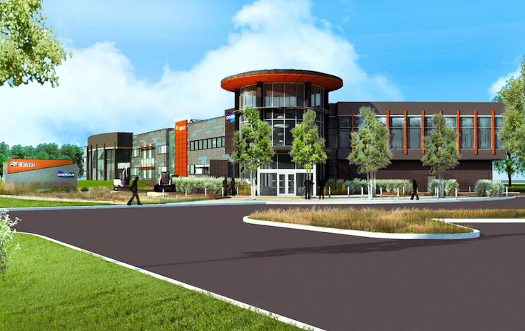 An artist's rendering of Doosan's expanded headquarters
