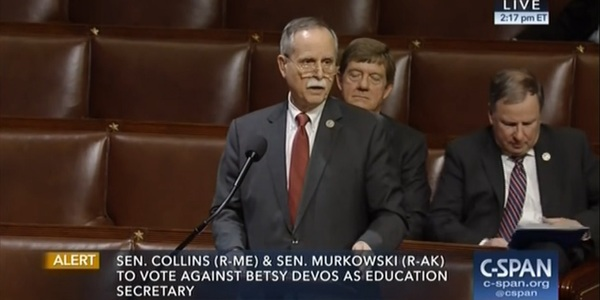 West Virginia U.S. District 1 Rep. David McKinley speaks on the floor of the House prior to vote against Obama-era Stream Protection Rule