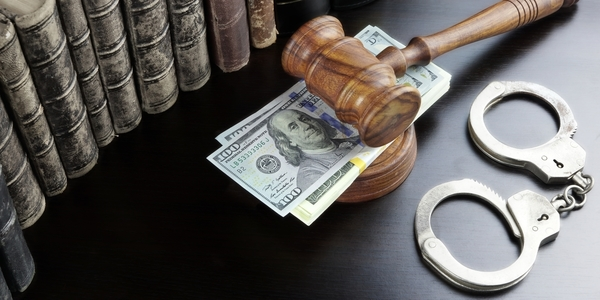 Large judges gavel handcuffs dollar 1280x640