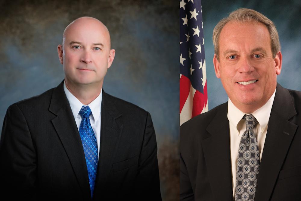 Steve Webb, left, and Dale Fowler