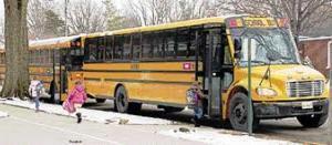 Medium school bus long