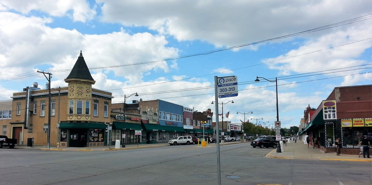 Downtown melrose park