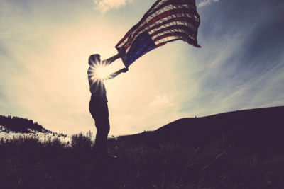 Medium 4th of july america flag 6895