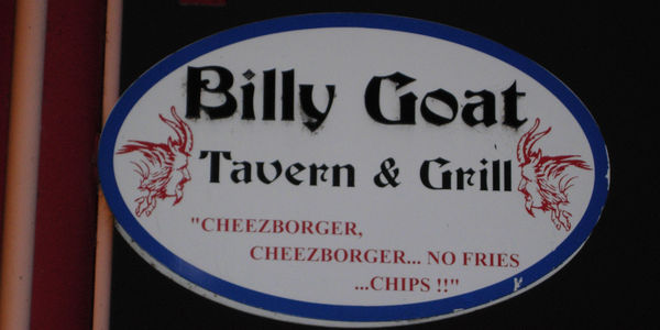 Large billy goat tavern sign